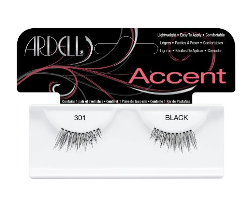 Ardell Lash Accents Pair Style 301, Black  (Pack of 4)