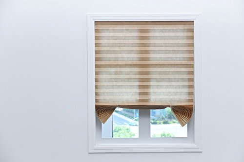 """Paper Shade (Decorated window curtain,Sontec brand Original Light Filtering Pleated Paper Shade White, 36"""" x 72"""", 6-Pack (36"""" x 72"""", Brown))"""