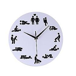 YJYDADA Clock, Creative Fun Bedroom Mute Wall Clock Acrylic Decorative Mirror Wall Clock (B)