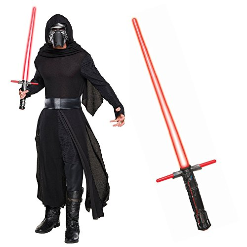 Star Wars Episode VIII: The Last Jedi - Kylo Ren Classic Adult Costume and Lightsaber Bundle - (Adult Jedi Costume Accessory)