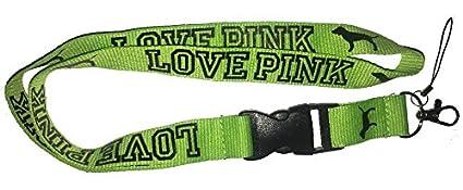 Victorias Secret Love verde rosa cordón llavero Correa para ...
