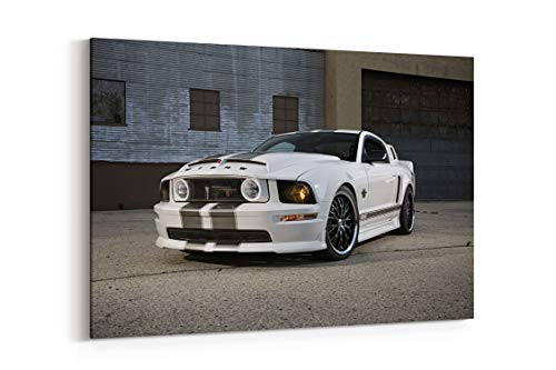 2008 Ford Mustang Black Widow Pro Touring Super Street Car USA 13 - Canvas Wall Art Gallery Wrapped 18
