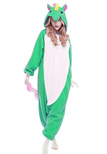 Dark Minion Halloween Costumes (NEWCOSPLAY Halloween Cosplay Animal Unisex Adult Onesies Costume (S, Unicorn Dark Green))