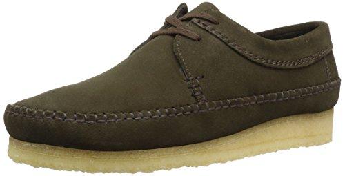 CLARKS Men's Weaver Moccasin, Peat Suede, 13 Medium US - Moccasin Mens Shoes