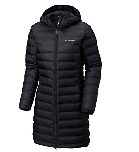 Columbia Women's McKay Lake Long Down Hooded Winter Jacket Black (Small)