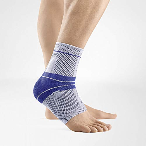 Bauerfeind - MalleoTrain - Ankle Support Brace - Helps Stabilize The Ankle Muscles and Joints for Injury Healing and Pain Relief - Left Foot - Size 2 - Color Titanium