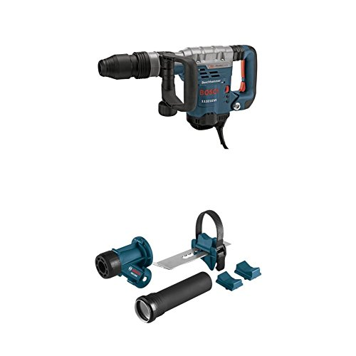 Bosch 11321EVS SDS-Max Demolition Hammer with HDC300 SDS-Max and Spline Hammer Dust Collection Attachment