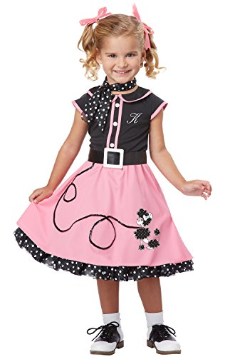 Nifty Fifties Poodle Skirt Costumes (California Costumes 50's Poodle Cutie Toddler Costume, 4-6)