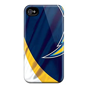 High Impact Dirt/shock Proof Case Cover For Iphone 4/4s (san Diego Chargers)