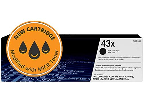 CPS C8543X High Yield MICR Toner for HP Laserjet 9000, 9050, 9040 Printers - 43X