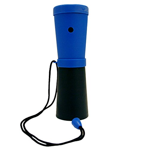 Storus Super Horn-World's Loudest Breath Powered Horn! For Safety And Fun-Blue And Black Color Cones-Measures 6.75' Long x 2' Wide