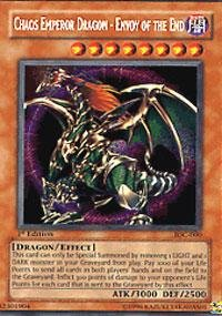 - Yu-Gi-Oh! - Chaos Emperor Dragon - Envoy of the End (IOC-000) - Invasion of Chaos - Unlimited Edition - Secret Rare