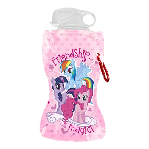 Vandor 42010 My Little Pony 12 oz Collapsible Water Bottle, -