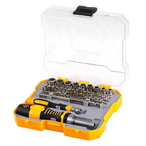 - 赛拓(SANTO)11-2280 65件套棘轮柄套筒螺丝刀套装 精密螺丝批组套 Santo 11-228065 Sets Ratchet Handle Sleeve Screwdriver Sets Precision Screw Batch Sets