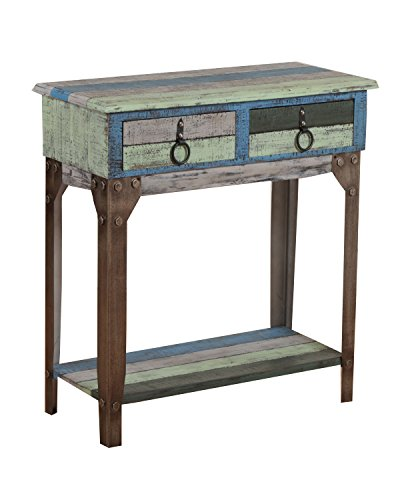 Powell Furniture Calypso Small Hall Console (Distressed Rustic Furniture)