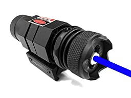 Ade Advanced Optics HB06-1 Triple Duty 450nm Blue/Violet Laser Sight with Picatinny Mount, Black
