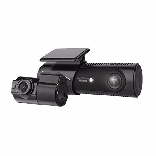LG Innotek 2-Channel Full HD Front + Rear 1080p Dashcam with Wi-Fi, 32GB MicroSD (LGD521) with Battery Protection Hardwire Kit