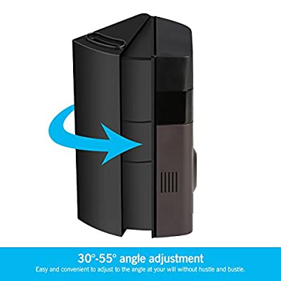 ADJUSTABLE (30 to 55 degree) Angle Mount for Ring Video Doorbell 2 and Original(Doorbell SIZE:6.12X2.60X1.06 inch), Angle Adapter/Mounting Plate/Bracket/Wedge Kit(Doorbell NOT included, Black)