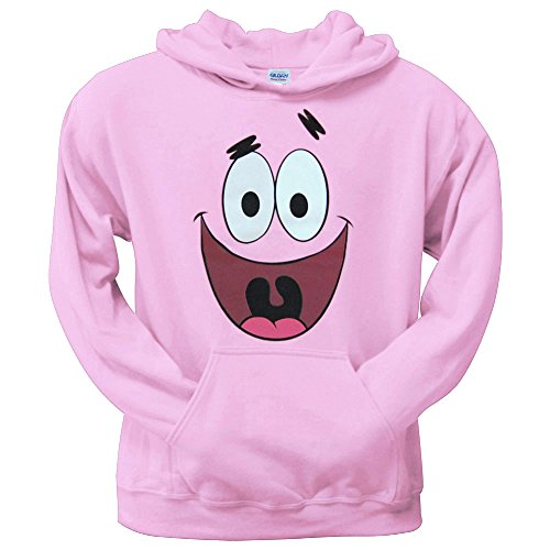 Spongebob: Patrick Star Face Adult Hoodie-Medium]()