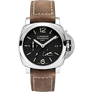 Panerai Men's Swiss Automatic Stainless Steel Casual Watch, Color:Black (Model: PAM00537)