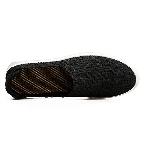 Color 43 Loafer Dimensione Nero Nero uomo Grid Mocassino Lattice EU Meimei da shoes FwaqZTRg