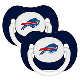 Buffalo Bills 2-pack Infant Pacifier Set - 2014 NFL Solid Color Baby Pacifiers