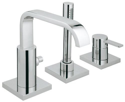 Grohe 3-hole-single-lever bathtub set ALLURE for use with body 33 339 000, chrome 19316000 Chrome Allure Single Lever