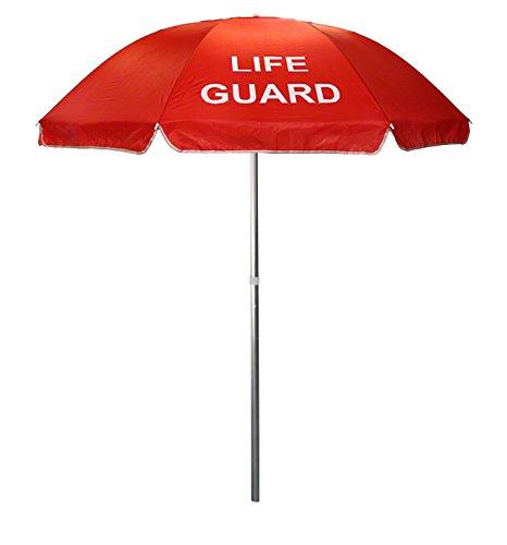 Nylon Lifeguard Umbrella with Tilt - 6-1/2 Foot Diameter - Imprinted (Red)