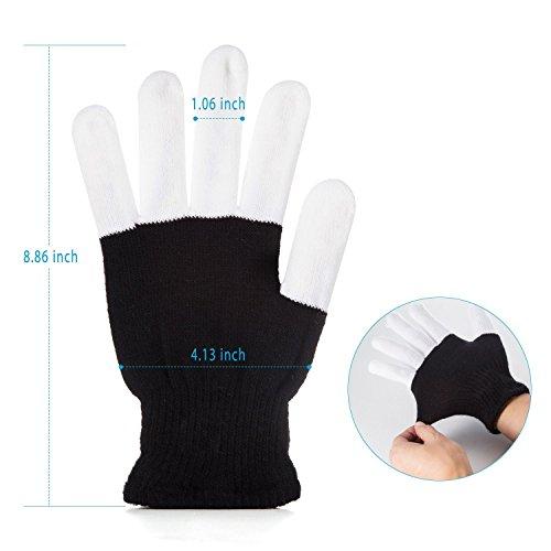 colorful Flashing fingers #1 Premium quality LED Lighting Gloves Rave gloves