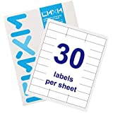 """CMXM Shipping Labels, 1"""" X 2-5/8"""" Self Adhesive Mailing Labels for Laser/Ink Jet Printer, 10 Sheets (300 Labels)"""