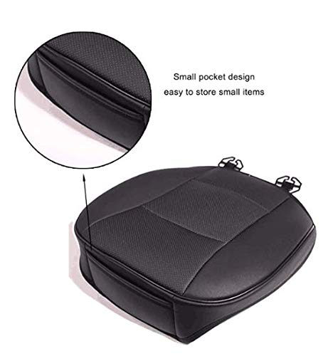 (Daphot-Store - Universal Car Front Seat Soft Cover Pad PU Leather Mat Chair Cushion Black/Gray for Toyota/BMW/Nissan/Honda/VW)