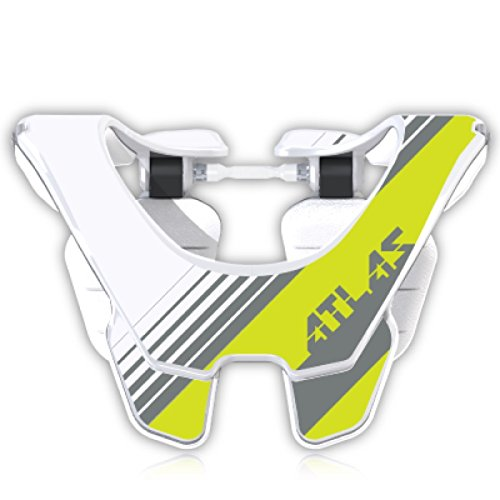 Atlas Prodigy Brace Youth Kid Neck Brace Acid Grey White Motocorss MX Protection by Atlas