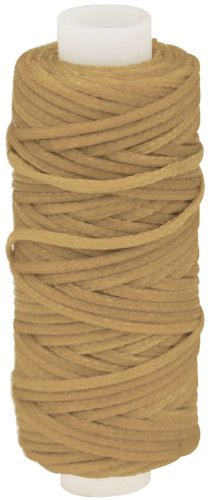 Tandy Leather Waxed Braided Cord 25 yds. (22.9 m) Beige 11210-04