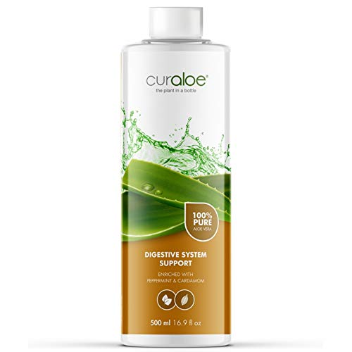 - Pure Aloe Vera Juice Plus Digestive Support - Curaloe | Added Herbal Extracts and Essential Oils | Naturally Cleanses and Detoxifies | Men and Women Nutrition | Organic Drink | Supports Gastro