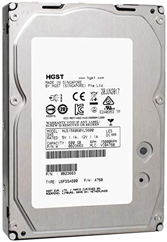 HGST Ultrastar 15K600 | HUS156060VLS600 | 0B23663 | 600GB 15K RPM SAS 6Gb/s 64MB Cache | 3.5in LFF |  - w/ 2 Year Warranty(Renewed)