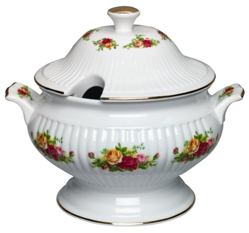 (Royal Albert Old Country Roses Covered Vegetable Tureen)