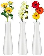 Flower Vase Set Tall Conic Composite Plastics Vase for Flowers Small Bud Decorative Floral Vase Home Decor Kitchen Office or Living Room Decor Centerpieces Arranging Bouquets Connected Tubes