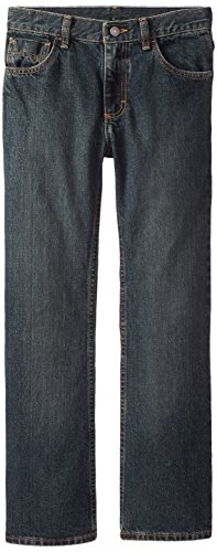 Wrangler Big Boys' Authentics Boot Cut Jeans, Forest Denim, 8 by Wrangler (Image #1)