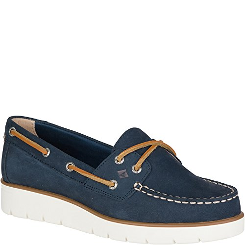 Blue Leather Boat (Sperry Top-Sider Women's Azur Cora Nubuck Boat Shoe, Navy, 7.5 M US)