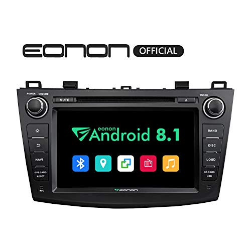 (2019 Double Din Car Stereo, Eonon Newest Android 8.1 Car Radio 2GB RAM +16GB ROM Quad-Core 8 Inch in Dash Touch Screen Radio Audio Applicable to Mazda 3 Series 2010,2011,2012 and 2013 -GA9163K)