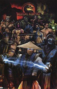 Mortal Kombat - Group Art Poster PRINT Unknown 22x34