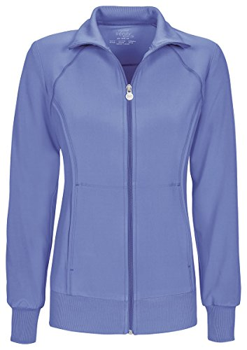Cherokee Women's Zip Front Warm-Up Jacket_Ciel_Small,2391A (Cherokee Pull)