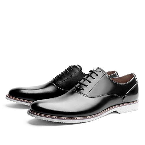 color Hombres Oxford Alto Black Comercial Yao Hombres Cuero Size Blanco eu Grado De Para Departamento 42 Zapatos Casuales Cuña Con Aq5RXxZ