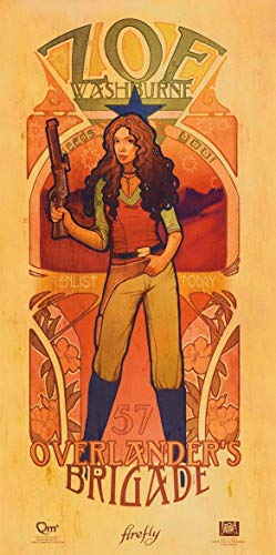 Ucland Wall Poster Prints Serenity Movie Firefly Les Femmes Zoe Washburne Poster Print Mini Poster Mini Poster Print, 12x24 Modern -