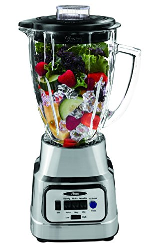 Oster Pure Blend 300 Blender with Glass Jar - Brushed Nickel (Size Of A Nickel In A Blender)