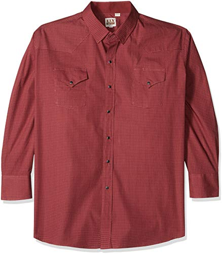 Ely & Walker Men's Long Sleeve Paisley Shirt, Burgundy Print, Medium (Paisley Snap Western Shirt)