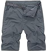 Jessie Kidden Men's Outdoor Quick Dry Cargo Shorts Breathable Climbing Safari Shorts Multi-Pocket...