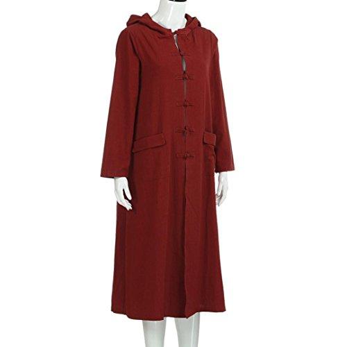 Kleid damen Kolylong® Frauen Elegant lange Kleid mit Kapuze Herbst ...