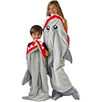 Sage & Olive Kids Shark Blanket - Kids sleeping bag -...