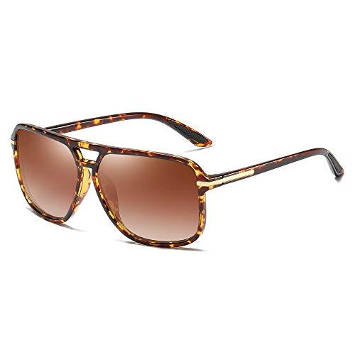Heptagram Goggle Hot Retro Aviator Polarized Classic Driving Men Sunglasses ((Updates) Gradient Brown) (Herren Square Aviator Sonnenbrillen)